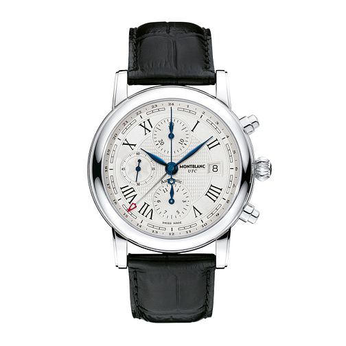 Montblanc Star Roman men's black leather strap watch - Product number 1413422