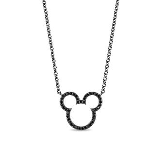 Mickey Mouse & Minnie Mouse Diamond Outline Pendant - Product number 1414399