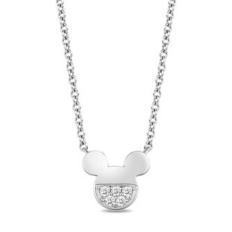 Mickey Mouse & Minnie Mouse Silver Diamond Necklace - Product number 1414410