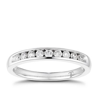 Tolkowsky platinum 1/4ct I-I1 diamond ring - Product number 1417126