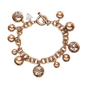 Guess Rose Gold-Plated Bauble Multi Bead Charm Bracelet - Product number 1417274