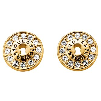 Guess Gold-Plated Padlock Stud Earrings - Product number 1417339