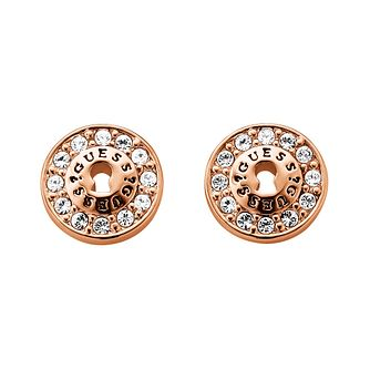 Guess Rose Gold-Plated Padlock Stud Earrings - Product number 1417347