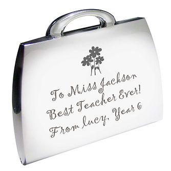 Personalised Engraved Flowers Handbag Compact Mirror - Product number 1434977