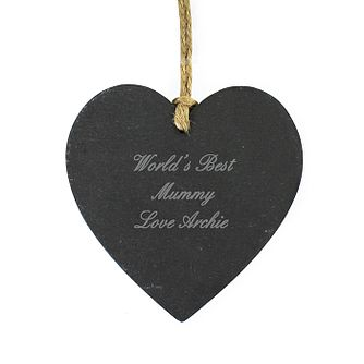 Engraved Script Hanging Slate Heart - Product number 1435027