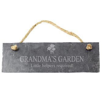 Engraved Flower Motif Slate Plaque - Product number 1435043