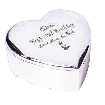 Engraved Butterfly Heart Trinket Box - Product number 1435167