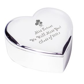 Engraved Flowers Heart Trinket Box - Product number 1435191