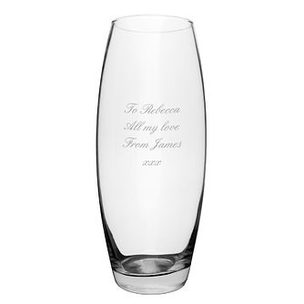 Engraved Tapered Bullet Vase - Product number 1438298