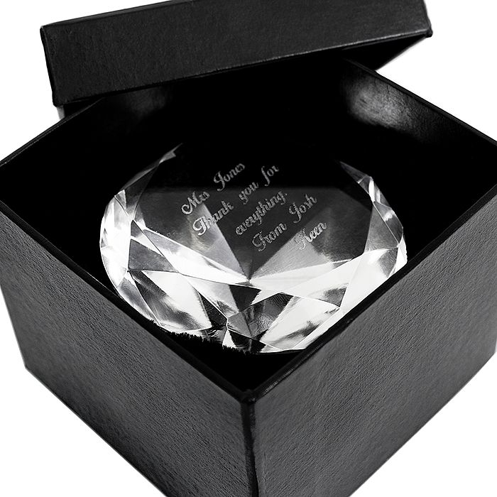 Engraved Diamond Paperweight - Product number 1438301