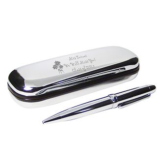 Engraved Flowers Pen and Box Gift Set - Product number 1438549
