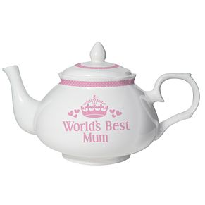 Personalised Pink World's Best Teapot - Product number 1438689