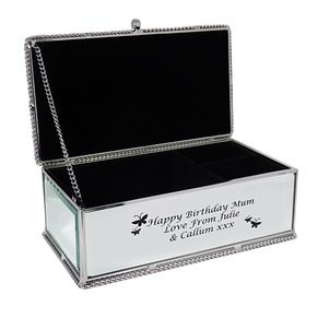 Engraved Butterflies Jewellery Box - Product number 1438786