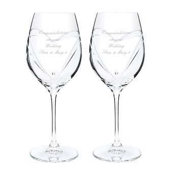 Engraved Swarovski Wine Glasses - Product number 1438867