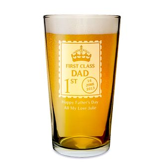 Personalised Engraved First Class Pint Glass - Product number 1439243