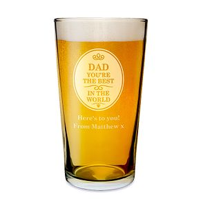Engraved Best in the World Pint Glass - Product number 1439278