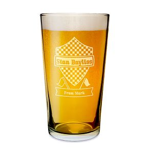 Engraved Formula1 Pint Glass - Product number 1439308