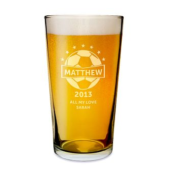 Personalised Engraved Football Pint Glass - Product number 1439324