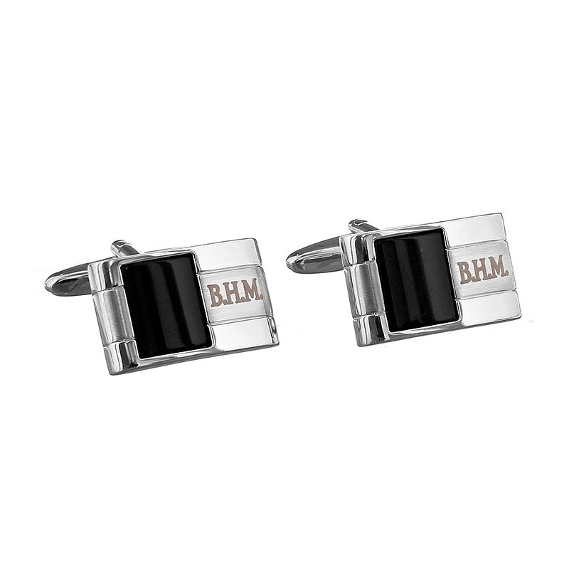 Engraved Onyx Cufflinks - Product number 1440349