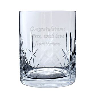 Engraved Crystal Whisky Glass - Product number 1440446