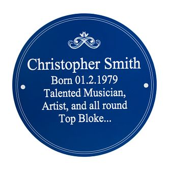 Personalised Heritage Plaque - Product number 1440462