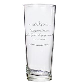 Personalised Ornate Swirl Pilsner Glass - Product number 1441507