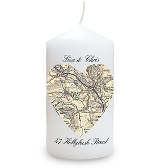 Personalised Postcode Map Candle - Product number 1441701
