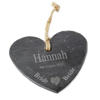 Engraved Bride Hanging Heart Slate - Product number 1441809