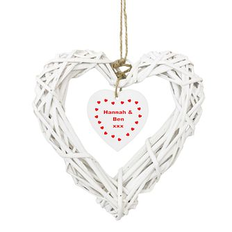 Personalised Wicker Heart Ornament - Product number 1441825