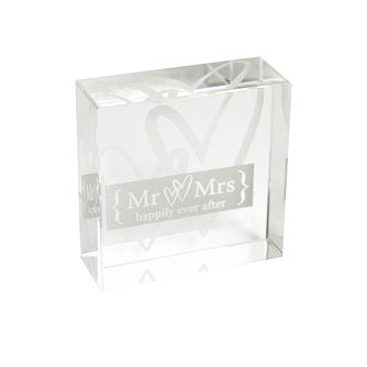 Personalised Silver Hearts Crystal Token - Product number 1441833