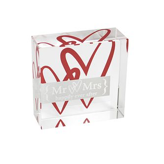 Personalised Ruby Hearts Crystal Token - Product number 1441868