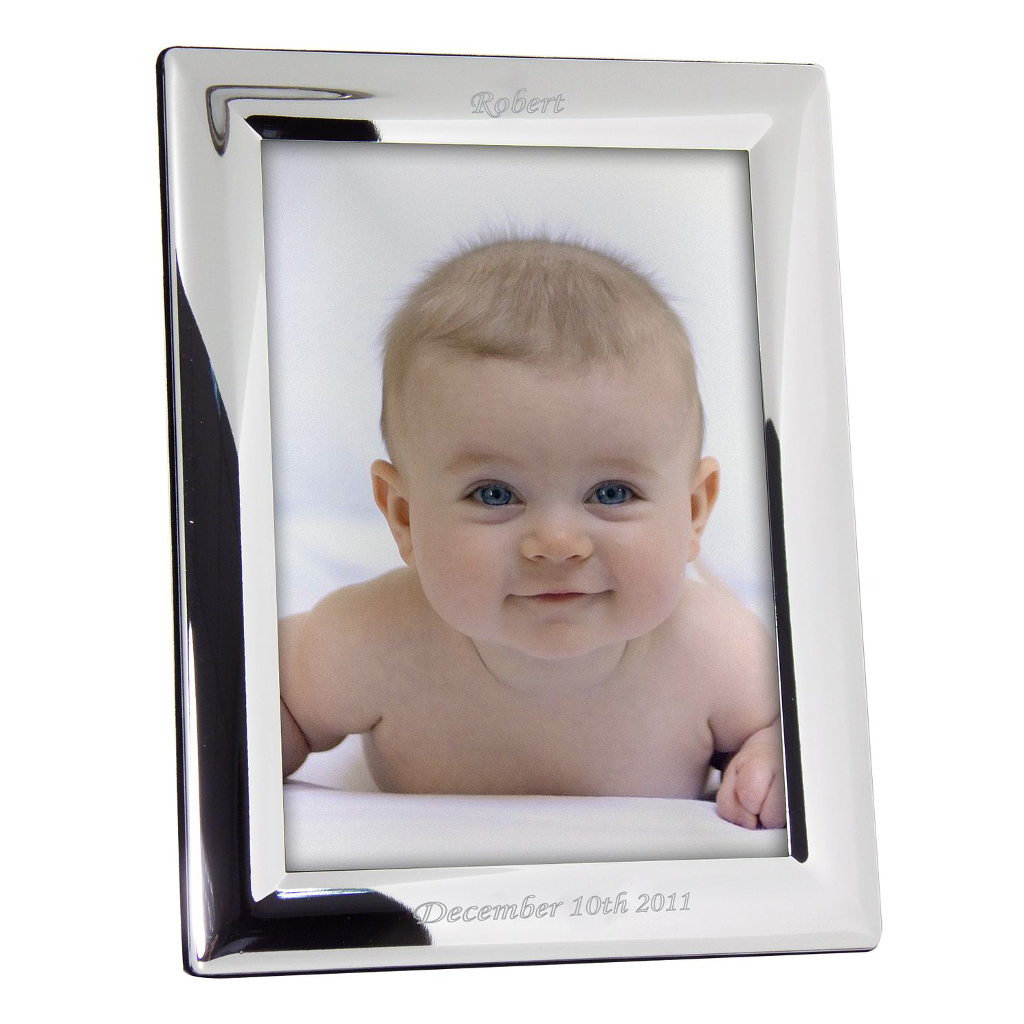Engraved Silver 5x7 Portrait Photograph Frame - Product number 1441965