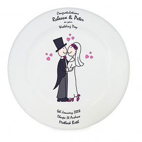 Personalised Cartoon Couple Keepsake Plate - Product number 1442082