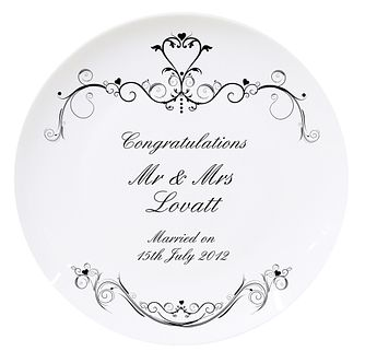 Personalised Wedding Ornate Swirl Plate - Product number 1442112