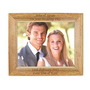Personalised Landscape Wooden Wedding Day 8x10 Frame - Product number 1443135
