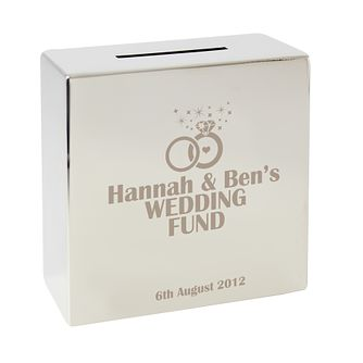 Engraved Rings Square Money Box - Product number 1443348