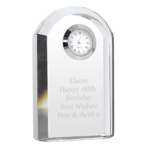 Engraved Crystal Clock - Product number 1443801