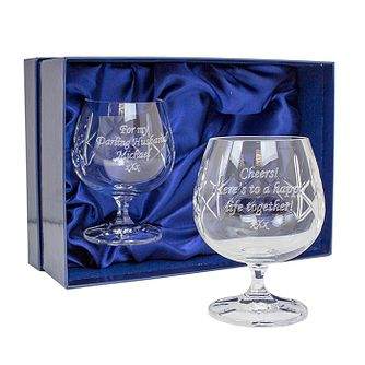 Personalised Engraved Crystal Brandy Glasses Gift Set - Product number 1443879