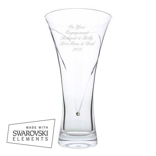 db7971caba Personalised Swarovski Elements Heart Vase - Product number 1444050