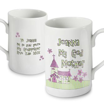 Personalised Whimsical Church Godmother Mug - Product number 1444190