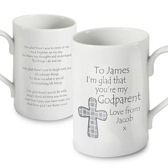 Personalised Grey Godparent Mug - Product number 1444212