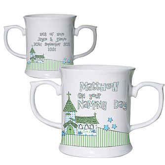 Personalised Blue Whimsical Church Loving Mug - Product number 1444360