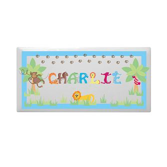 Personalised Animal Alphabet Boys Door Plaque - Product number 1444484