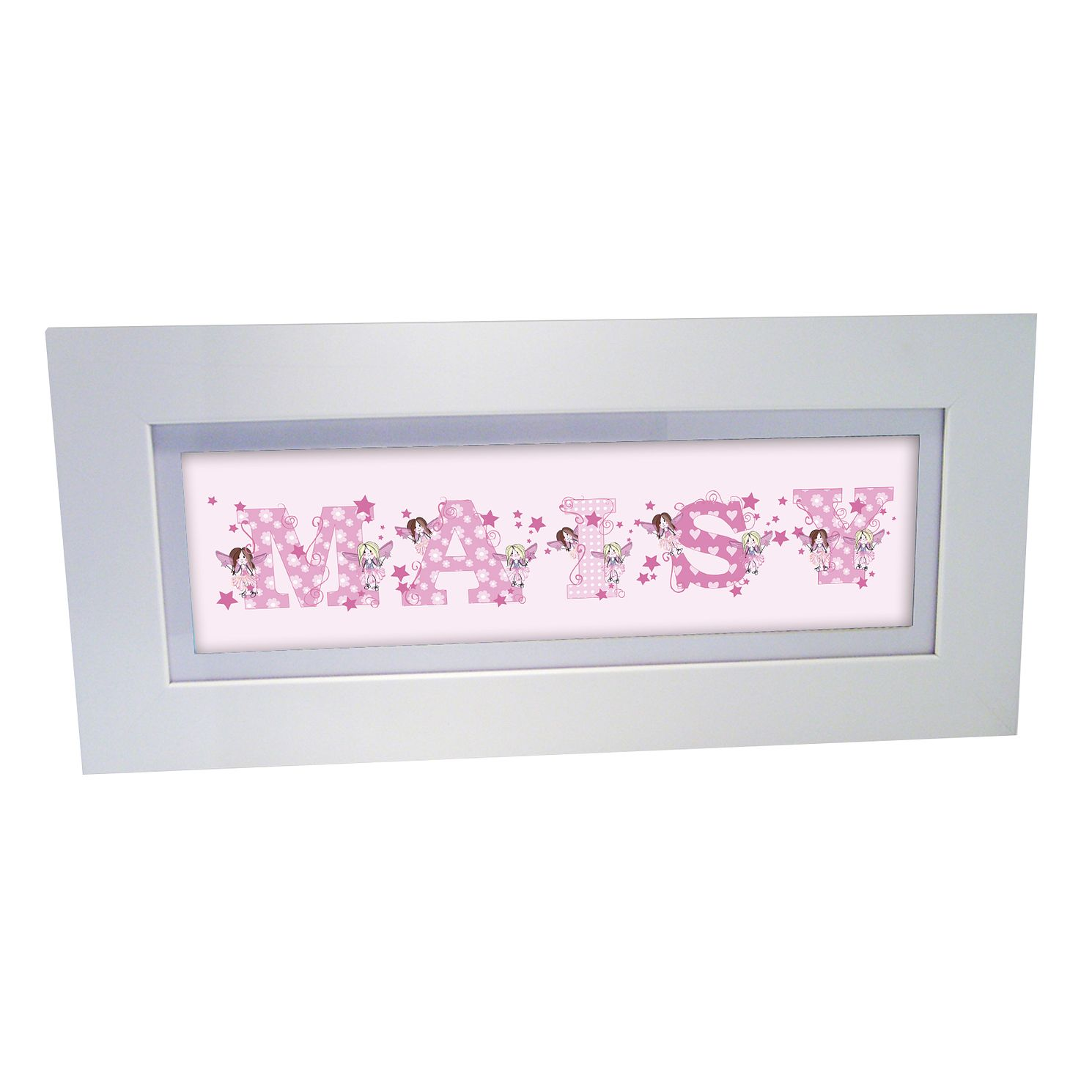 Personalised Pink Fairy Letter Name Frame - Product number 1445235