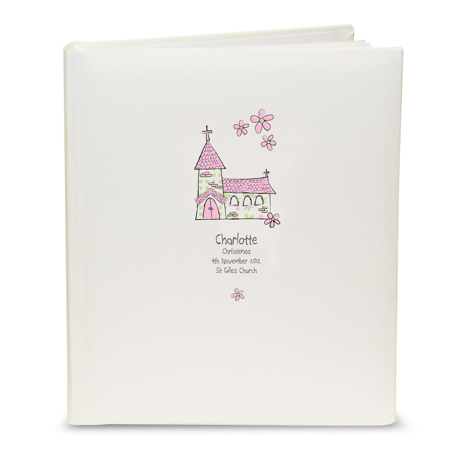 Personalised Whimsical Pink Church Photograph Album - Product number 1445707