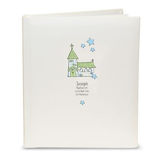 Personalised Whimsical Blue Church Photograph Album - Product number 1445715