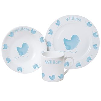 Personalised Blue Chick Breakfast Set - Product number 1445847