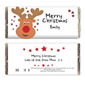 Personalised Reindeer Chocolate Bar - Product number 1446193