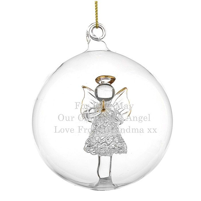 Personalised Glass Christmas Angel Bauble - Product number 1446363