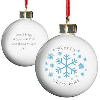 Personalised Snowflakes Bauble - Product number 1446487